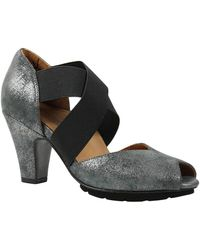 L'amour Des Pieds - Fanchone Leather Peep Toe Cone Heel - Lyst