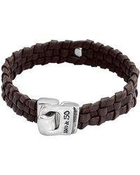 Uno De 50 - Narrow Minded Braided Leather Bracelet - Lyst