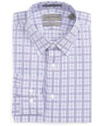 John W. Nordstrom - Trim Fit Check Dress Shirt - Lyst