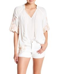 Jessica Simpson - Catalina Short Raglan Sleeve Blouse - Lyst