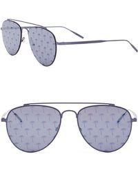 Tomas Maier - 54mm Printed Aviator Sunglasses - Lyst