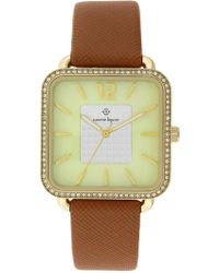 Nanette Nanette Lepore - Women's Quartz Faux Leather Strap Watch, 42mm - Lyst