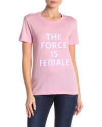 Rebecca Minkoff - Delaney The Force Is Female Graphic Tee - Lyst