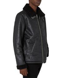 TOPMAN - Faux Shearling Jacket - Lyst