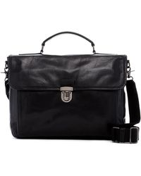 Frye - Stanton Top Handle Leather Briefcase - Lyst