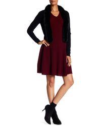 Sofia Cashmere - Cashmere V-neck Fit & Flare Dress - Lyst