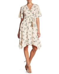 Blu Pepper - Handkerchief Hem Floral Print Dress - Lyst