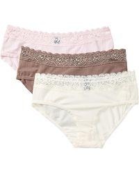 Felina - Bikini Brief Underwear - Pack Of 3 - Lyst
