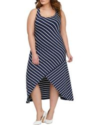 Michel Studio - Stripe Maxi Dress (plus Size) - Lyst