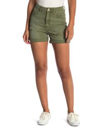 One Teaspoon - Militaire Distressed High Waisted Shorts - Lyst