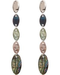 Robert Lee Morris - Patina & Abalone Drop Earrings - Lyst