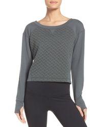 Zella - Dance Off Crop Pullover - Lyst