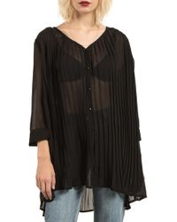 Volcom - Pleat Down Tunic Top - Lyst