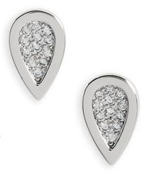 Melanie Auld - Teardrop Stud Earrings - Lyst