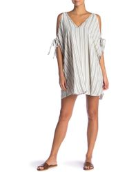 Robin Piccone - Norah Striped Cold Shoulder Tunic Cover-up - Lyst