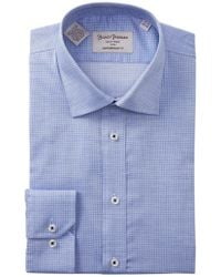 Hickey Freeman - Mini Checkered Contemporary Fit Dress Shirt - Lyst