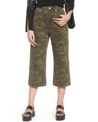 TOPSHOP - Camo Wide Leg Trousers - Lyst