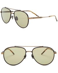 Bottega Veneta - 56mm Aviator Sunglasses - Lyst
