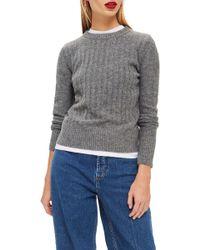 TOPSHOP - Rib Sweater - Lyst