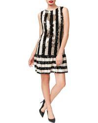 Betsey Johnson - Sequins Flounce Dress - Lyst