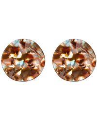 Cara - Bold Tortoise Wavy Circle Earrings - Lyst