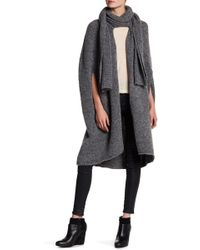 INHABIT - Wool Blend Scarf Cape - Lyst