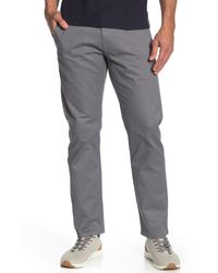 "Dockers Alpha Original Khaki Slim Fit Chinos - 30-34"" Inseam - Gray"