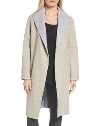 Eileen Fisher - Double-face Wool Blend Coat - Lyst