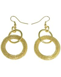 1AR By Unoaerre - Wide Textured Large Hoop Drop Earrings - Lyst