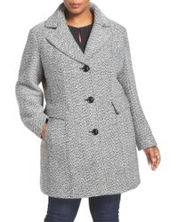 Gallery - Tweed Coat (plus Size) - Lyst