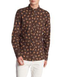 AllSaints - Wieppe Leaf Print Slim Fit Shirt - Lyst