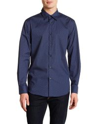 Perry Ellis - Pin Dot Slim Fit Long Sleeve Woven Shirt - Lyst