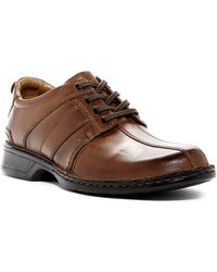 Clarks - Touareg Vibe Leather Bike Toe Derby - Wide Width Available - Lyst