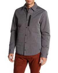 Original Penguin - Quilted Space Dye Long Sleeve Shirt - Lyst