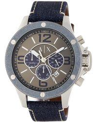 Armani Exchange - Men's Chronograph Denim Watch - Lyst