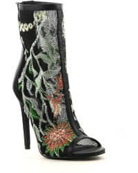 Cape Robbin - Elnora Embroidered Booties - Lyst