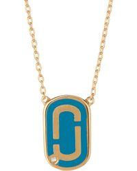 Marc Jacobs - Logo Pendant Necklace - Lyst