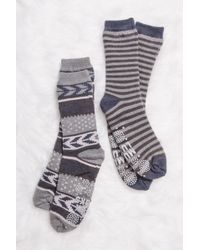 Muk Luks | Cozy Pattern Knit Socks - Pack Of 2 | Lyst