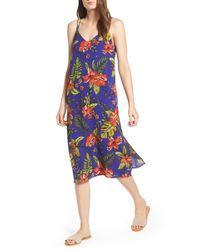 Lush - Strappy Floral Print Midi Dress - Lyst