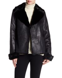 Vince Camuto - Faux Shearling Trim Jacket - Lyst