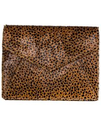 Aimee Kestenberg - Mandy Leather Envelope Sleeve Clutch - Lyst