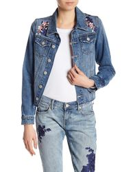 True Religion | Danni Floral Embroidered Denim Jacket | Lyst