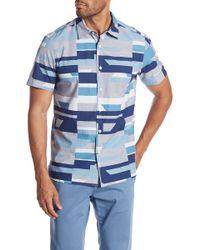 Perry Ellis - Short Sleeve Oversized Geometric Print Shirt - Lyst