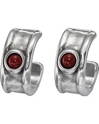 Uno De 50 - Fortified Murano Glass Accented C-hoop Earrings - Lyst