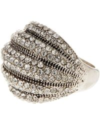 Ariella Collection - Dimensional Crystal Pave Ring - Lyst