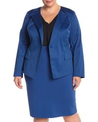 53031e329ef Lyst - Lafayette 148 New York Plus Size Janelle Cotton-blend Jacket ...