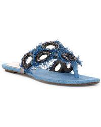 Schutz - Wally Denim Thong Sandals - Lyst