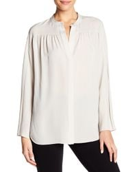 Vince - Silk Shirred Blouse - Lyst