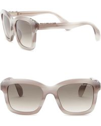 Lanvin - 52mm Swarovski Crystal Accented Square Sunglasses - Lyst