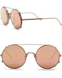 d6dc9adede Sunday Somewhere - Valentine 53mm Round Aviator Sunglasses - Lyst